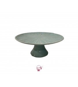 Green: Seafoam Green with Starfish Design Cake Stand: 12 Inches Wide x 5 Inches Tall
