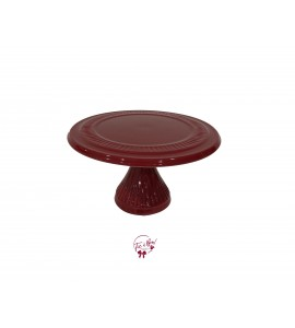 "Red: Marron Cake Stand: 12 Inches Wide x 6 Inches Tall Material: Ceramic Dimensions: W12"", H6"""