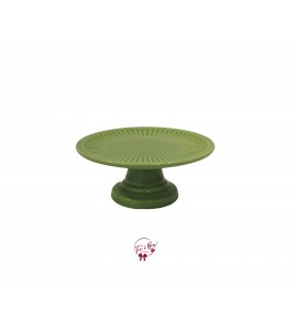 Green: Pear Green Cake Stand: 9 Inches Wide x 4 Inches Tall