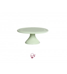 Green: Light Green Cake Stand: 9 Inches Wide x 4 Inches Tall