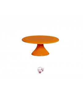 Orange Cake Stand: 9 Inches Wide x 4 Inches Tall