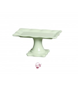 Green: Light Green Ruffled Edge Rectangular Cake Stand