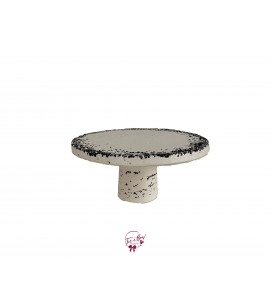 """Concrete With Black Accents Cake Stand: 9.5""""W x 5""""H (Short)"""