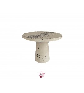 """Concrete With Black Accents Cake Stand: 9.5""""W x 7""""H (Tall)"""