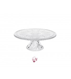 Clear Crystal Cake Stand 12 Inches Wide x 4.75 Inches Tall