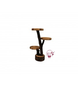 Wood: Tree Branches Cupcake Stand: 10 Inches Round x 14.15 Inches Tall