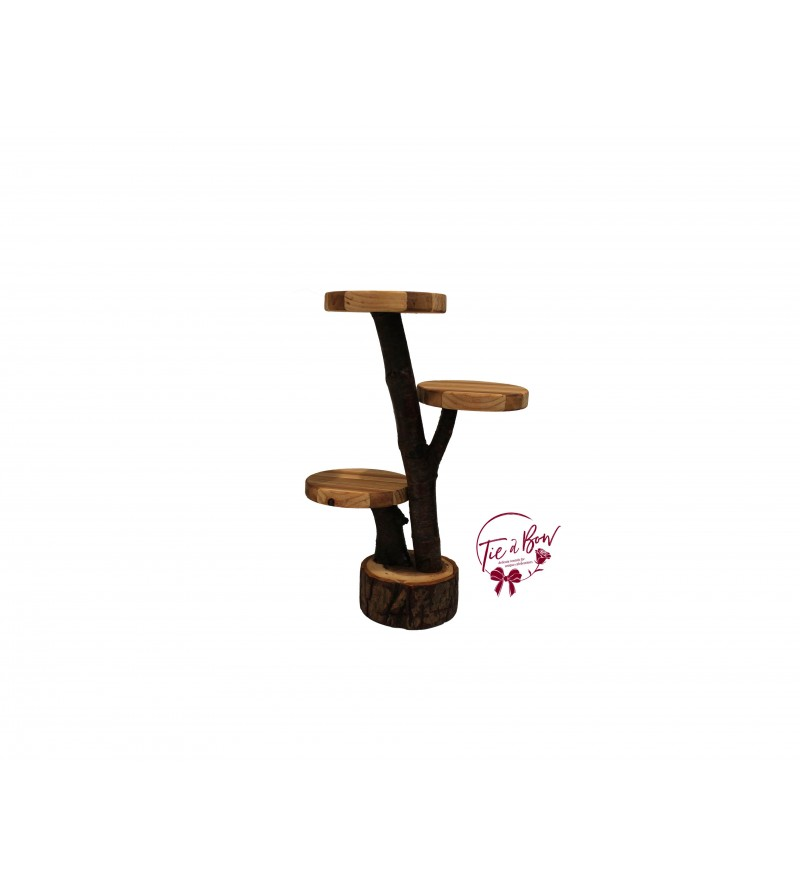 """Wood: Tree Branches Cupcake Stand: 10""""W x 14""""H"""