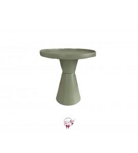 "Green: Sage Green Deco Hourglass Cake Stand: 8""W x 9.5""H"