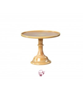 Carmel Cake Stand: 10 Inches Wide x 8 Inches Tall