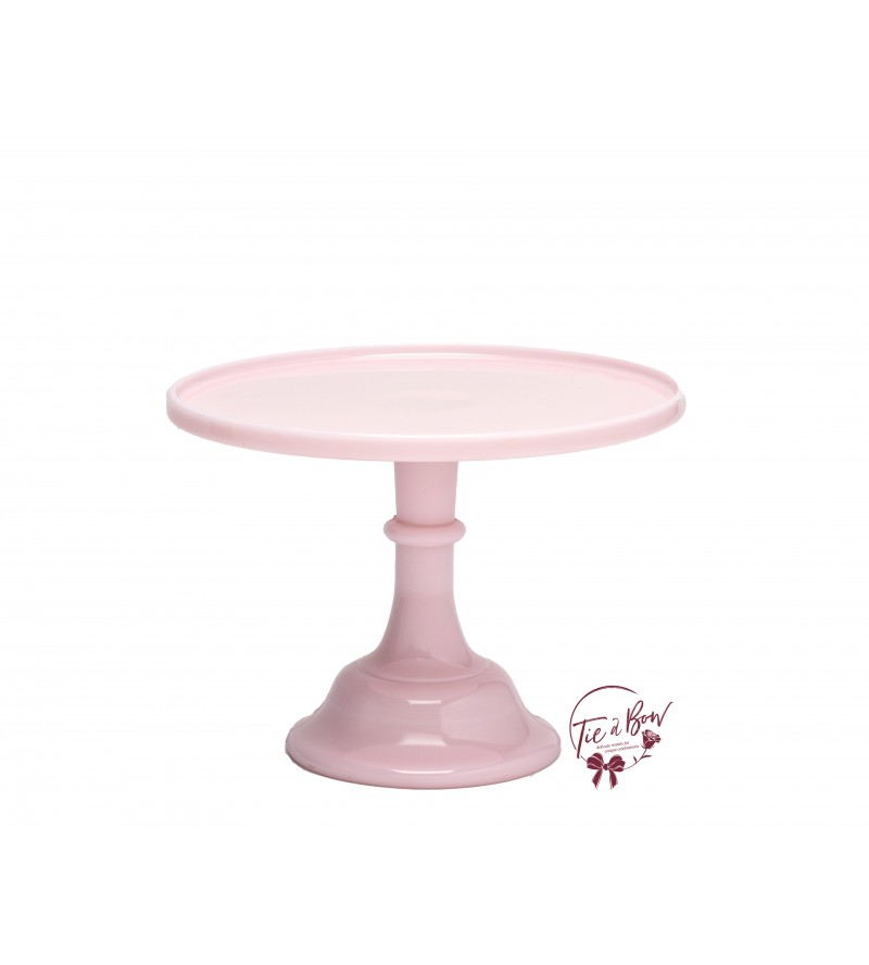 Pink: Light Pink Cake Stand: 10 Inches Wide x 8 Inches Tall