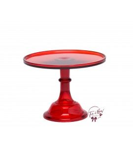 Red Cake Stand: 10 Inches Wide x 8 Inches Tall