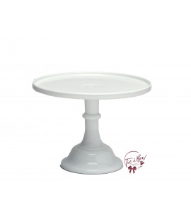 White Cake Stand: 9 Inches Wide x 7 Inches Tall