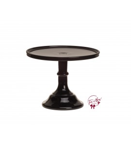Black Cake Stand: 10 Inches Wide X 8 Inches Tall
