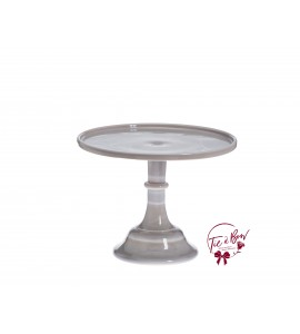 Gray: Marble Gray Cake Stand: 10 Inches Wide x 8 Inches Tall