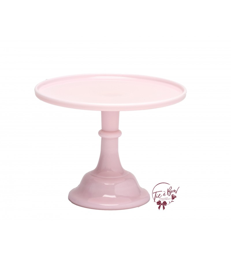 Pink: Light Pink Cake Stand: 12 Inches Wide x 9 Inches Tall