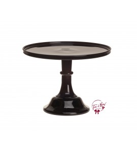 Black Cake Stand: 12 Inches Wide X 9 Inches Tall