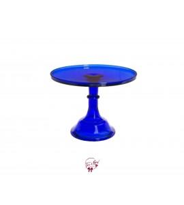"Blue: Cobalt Clean Cake Stand: 12""W x 9""H"