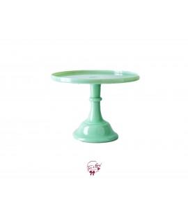 "Green: Mint Green Clean Cake Stand: 12""W x 9""H"