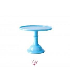 "Blue: Robin Egg Blue Clean Cake Stand: 12""W x 9""H"