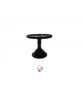 Black Cake Stand: 6 Inches Wide x 5.5 Inches Tall