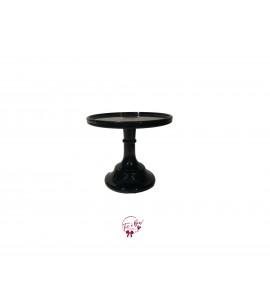 "Black Clean Cake Stand: 6""W x 5.5""H"