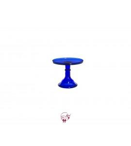 "Blue: Cobalt Blue Clean Cake Stand: 6""W x 5.5""H"