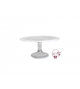 Opal Crystal Cake Stand: 8.5 Inches Wide x 4.5 Inches Tall