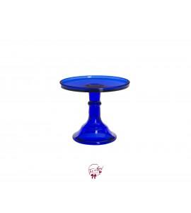 "Blue: Cobalt Blue Clean Cake Stand: 9""W x 7""H"