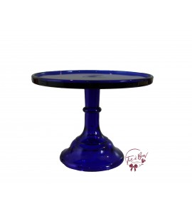 Blue: Cobalt Blue Cake Stand: 9 Inches Wide x 7 Inches Tall