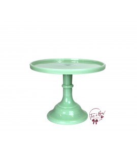 Green: Mint Green Cake Stand: 9 Inches Wide x 7 Inches Tall