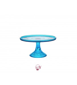 """Blue: Colonial Blue Vintage Cake Stand: 9""""W x 5.5""""H"""