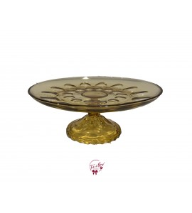 Amber Cake Stand: 9.5 Inches Wide x 4 Inches Tall