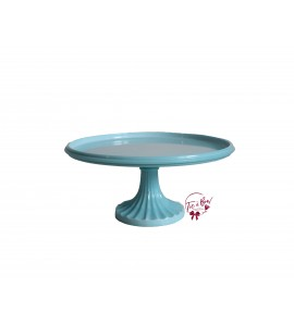 Blue: Light Blue Cake Stand: 10 Inches Wide x 5 Inches Tall