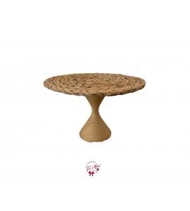 "Hyacinth Cake Stand with Hourglass Base: 12""W x 7.5""H"