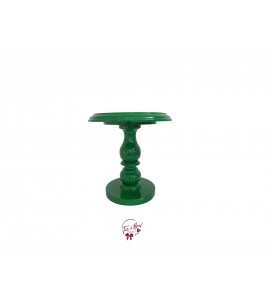Green: Kelly Green Lacquered Cake Stand:  7 Inches Wide x  8.5 Inches Tall