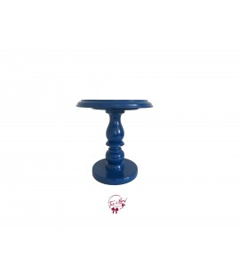 Blue: Royal Blue Lacquered Cake Stand:  7 Inches Wide x  8.5 Inches Tall
