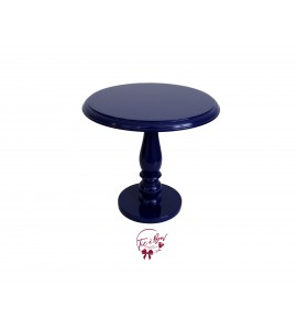 Blue: Egyptian Blue Lacquered Cake Stand: 11.75 Inches Wide x 11.5 Inches Tall