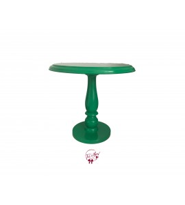 Green: Parakeet Green Lacquered Cake Stand: 11.75 Inches Wide x 11.5 Inches Tall