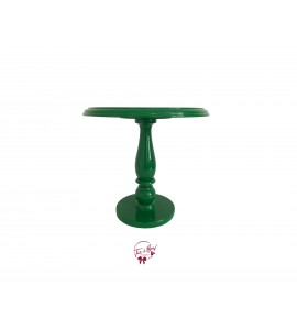 Green: Kelly Green Lacquered Cake Stand: 11.75 Inches Wide x 11.5 Inches Tall