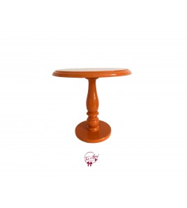 Orange Lacquered  Cake Stand: 11.75 Inches Wide x 11.5 Inches Tall