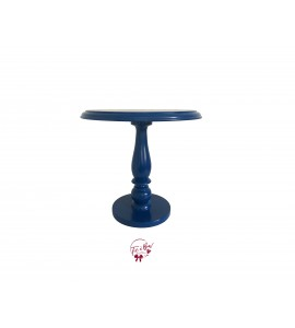 Blue: Royal Blue Lacquered Cake Stand: 11.75 Inches Wide x 11.5 Inches Tall