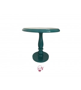 Blue: Turquoise Lacquered Cake Stand: 11.75 Inches Wide x 11.5 Inches Tall