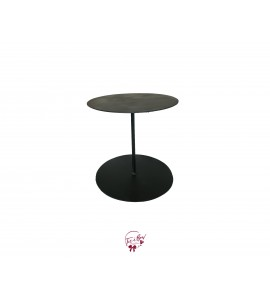 Black Round Top and Bottom Metal Cake Stand