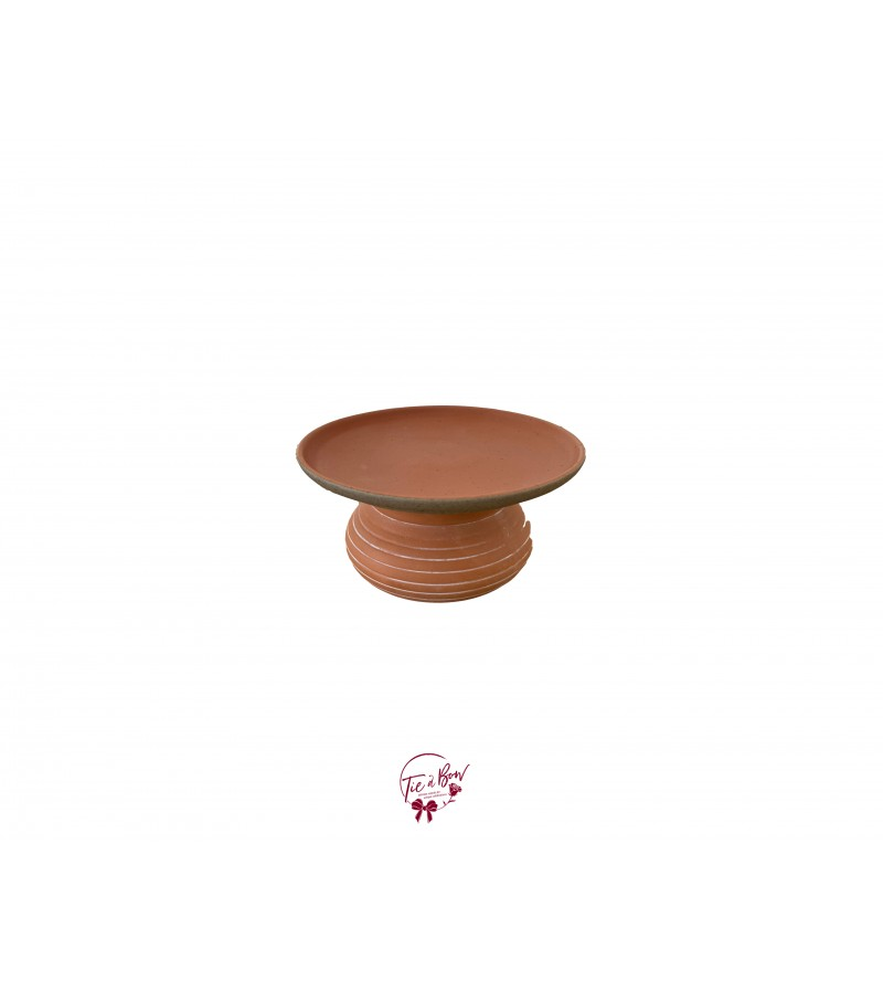 """Terracotta Cake Stand (Small): 6""""W, 3""""H"""