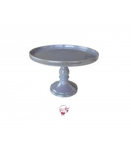 Lavender: Irisdecent Lavender Cake Stand: 9.5 Inches Wide x 7 Inches Tall