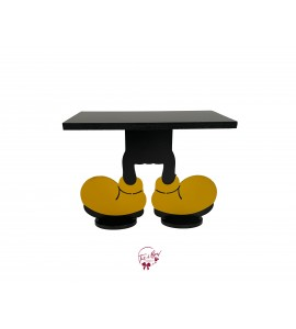 Mickey Mouse Feet Cake Stand: 12 Inches Wide x 9.5 Inches Tall