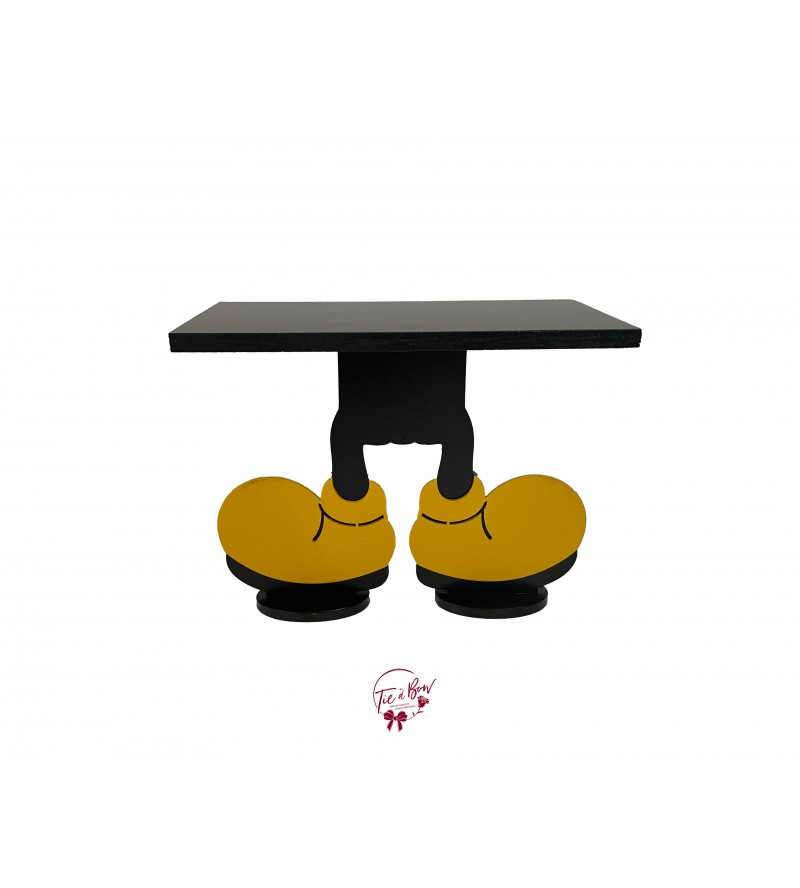 """Mickey Mouse Feet Cake Stand: 12""""W x 9.5""""H"""