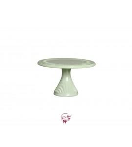 "Green: Light Green Silva Cake Stand (Large): 12""W x 6""H"