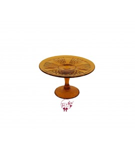 Amber Vintage Cake Stand: 8 Inches Wide x 4.75 Inches Tall