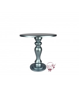 Blue: Metallic Blue Cake Stand: 10 Inches Wide x 10 Inches Tall